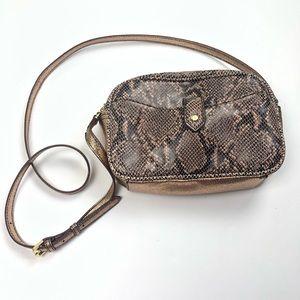 Handbags - Gili leather crossbody bag with metallic detailing